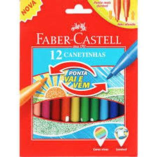 Faber Castell  12 cores  vai e vem
