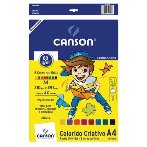 Bloco Criativo colorido A4