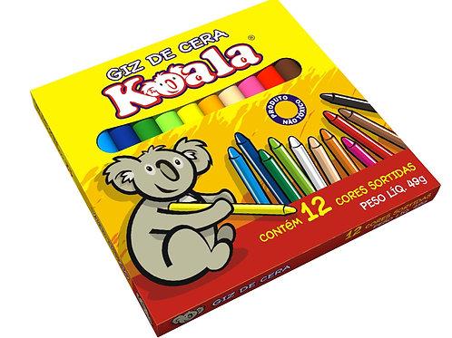 Giz de cera 12 cores Koala