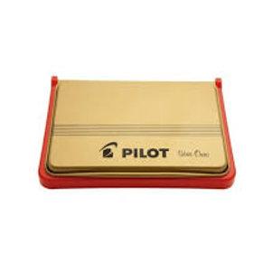 Almofada de carimbo Pilot vermelha serie ouro