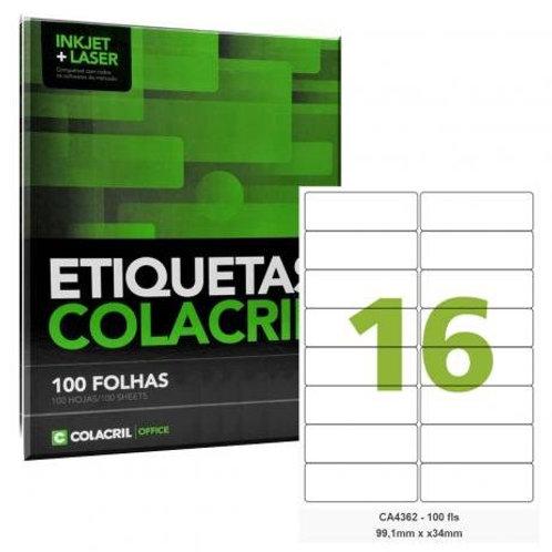 Etiqueta adesiva Colacril CA4362