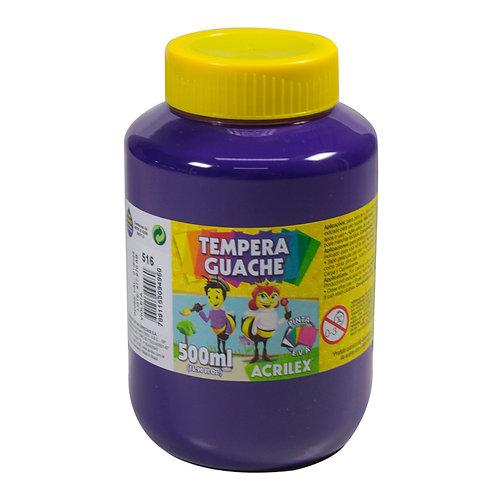 Tinta Guache violeta Acrilex 500ml
