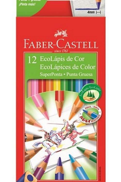 EcoLápis Super ponta 12 cores