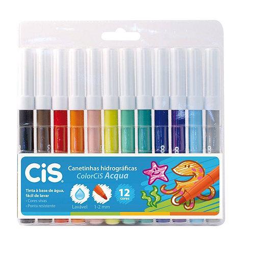 Caneta Hicrocor Cis 12 cores