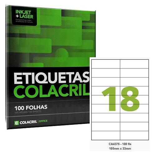 Etiqueta adesiva Colacril CA4375