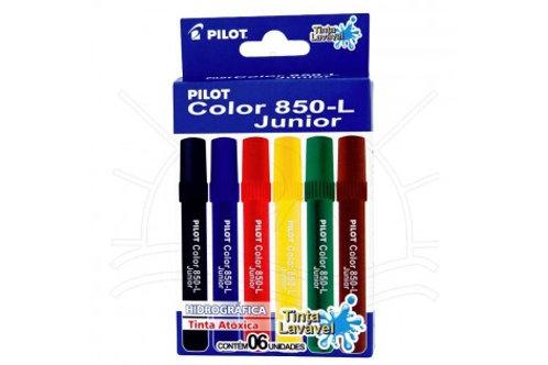 10 -Pilot - 6 cores Marcador Lavável