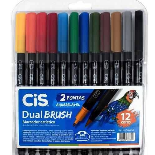 Caneta Brush Cis 2 pontas Aquarelável