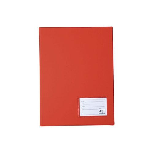 Pasta PVC com grampo plástico vermelho ACP