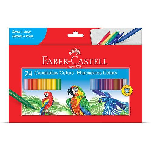 Hidrocor 24 cores Faber Castell