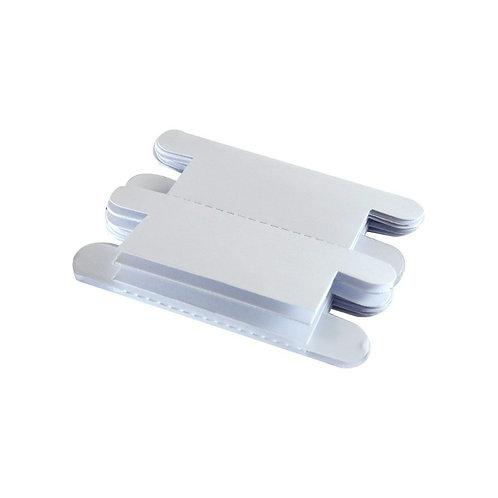 Visor de plástico com etiqueta de papel