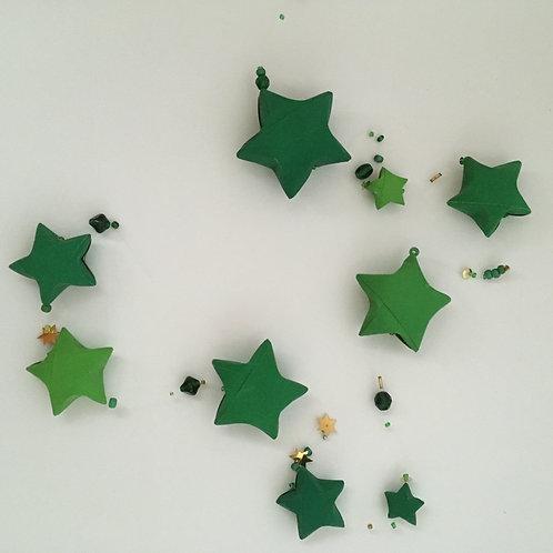 Sternengirlande tannengrün
