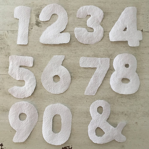Handgeschöpfte Zahlen