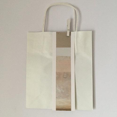"""Papiertasche mit Farbband """"cappuccino"""""""