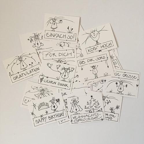 Set Minikarten von leben-dig
