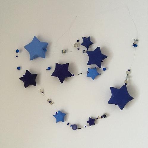 Sternengirlande nachtblau