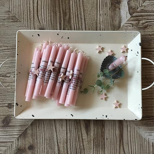 Kerzenadventskalender mit Wertscheinen, rosa