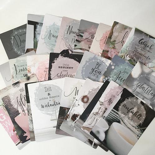 Set Postkarten von senfkorn
