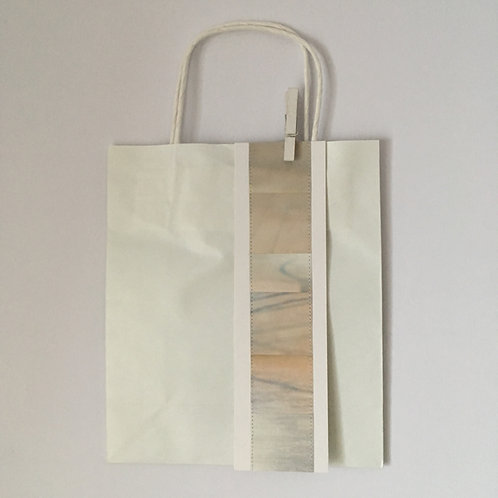 """Papiertasche mit Farbband """"macchiato"""""""