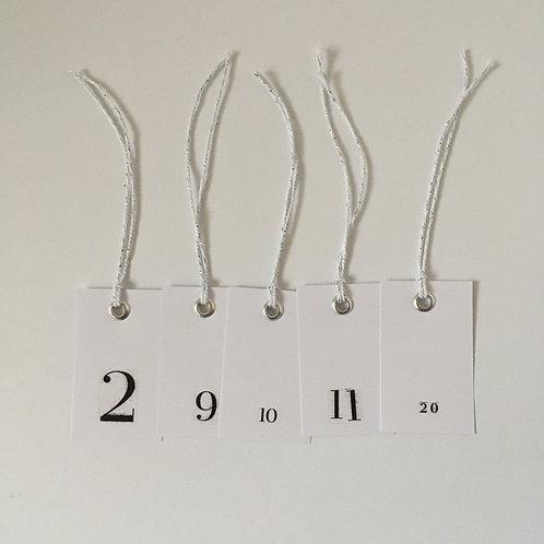 Adventskalenderanhänger silber