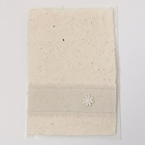 Karte natur mit Blumenband