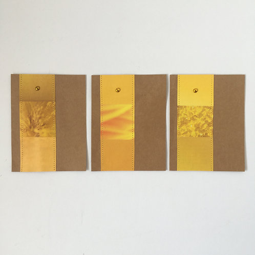 Piccolokarten sonnengelb