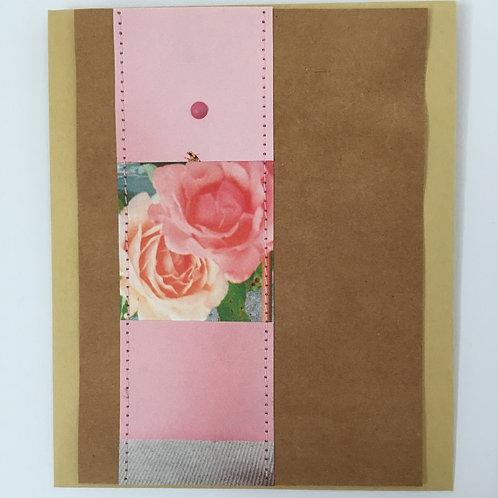 Piccolokarte rosenrot