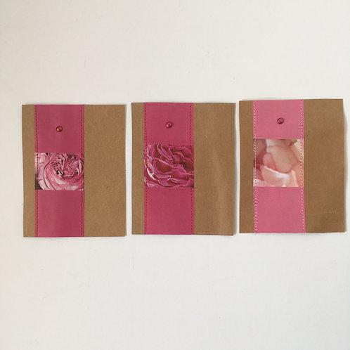 Piccolokarten rosenrot