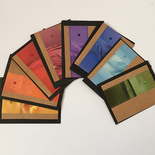 Piccolokarten Geschenkset regenbogen