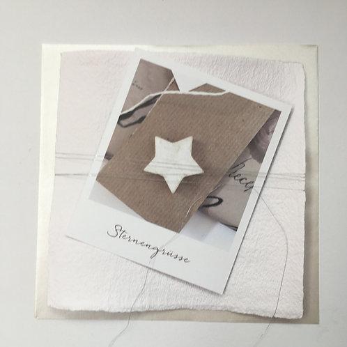 Weihnachtskarte Sternengrüsse Postkarte