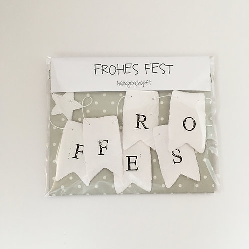 Wimpelkette FROHES FEST
