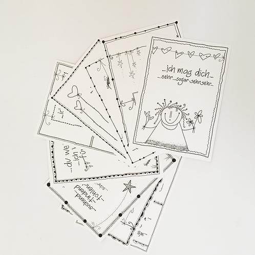 Set Postkarten leben-dig