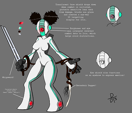 Tech-Warrior Character Design