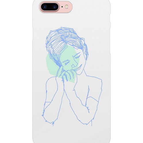 Caring Girl Phone case for iPhone and Samsung Galaxy