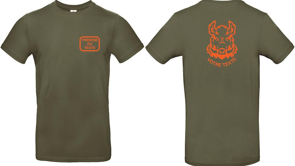 T-shirt chasse à personnaliser
