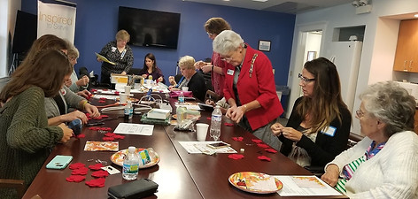 2018 September Chapter Meeting Crafting Poppies for the Veterans