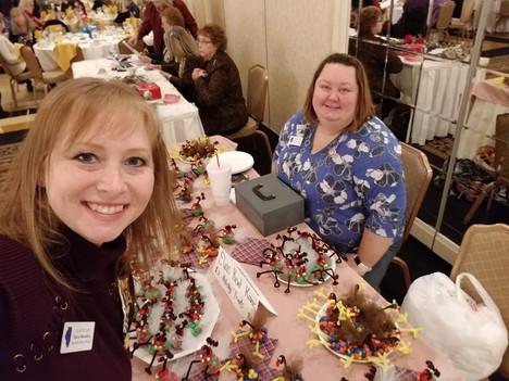 Kara Marselle & Dana Vassos at a District IV Meeting