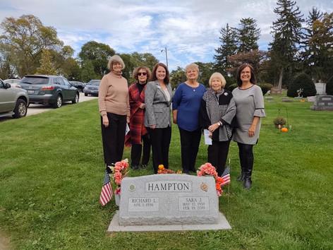 Sara Hampton's memorial service