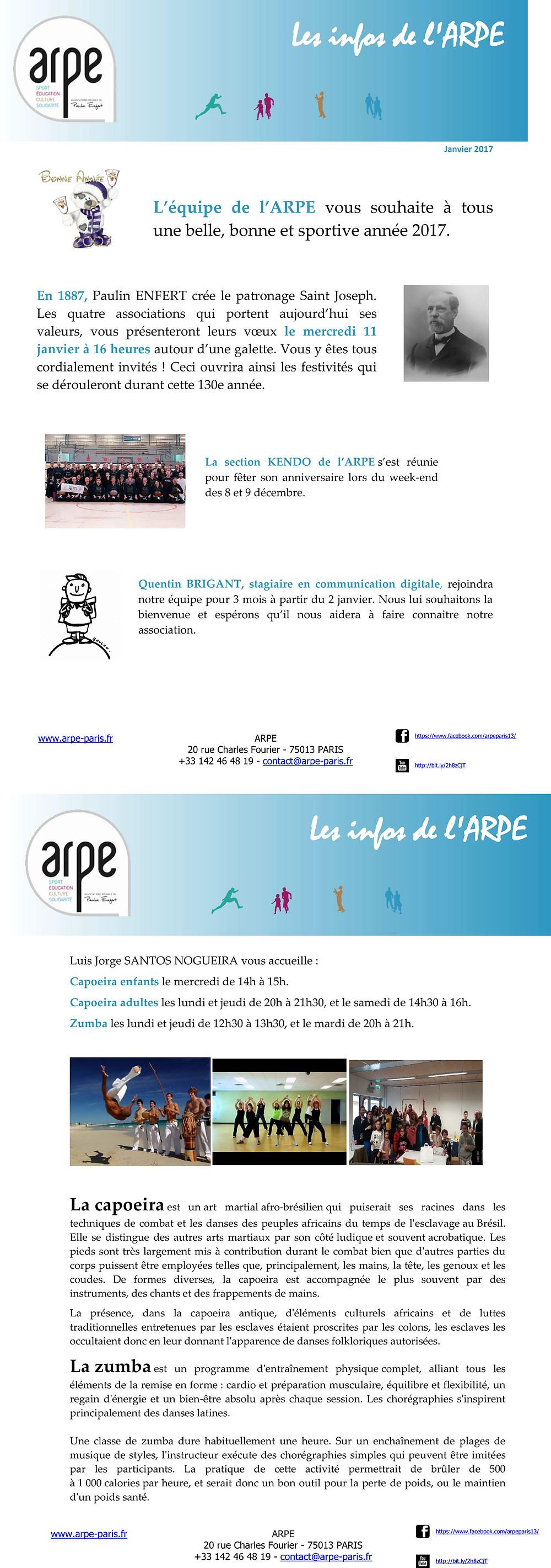 Avec les voeux de l'ARPE, et l'invitation à la Galette du 11 janvier !!!