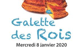Galette des  Rois, mercredi 8 janvier 2020 à partir de 16 h 00.