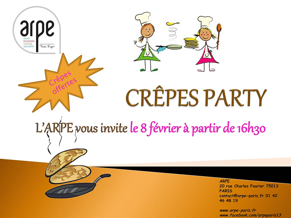 Crêpes party à l'ARPE !