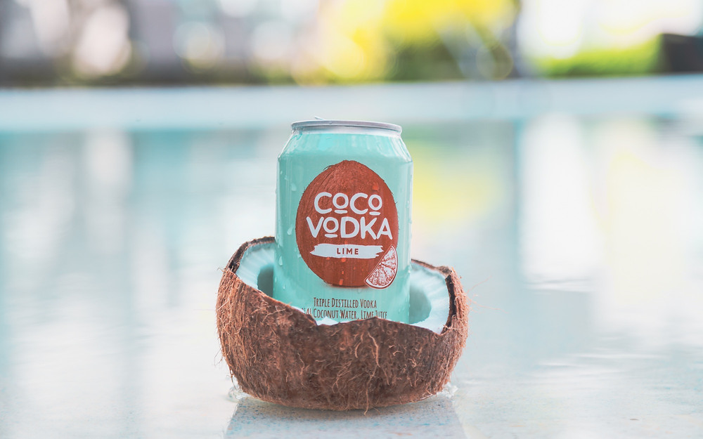 CoCo Vodka Lime in a coconut