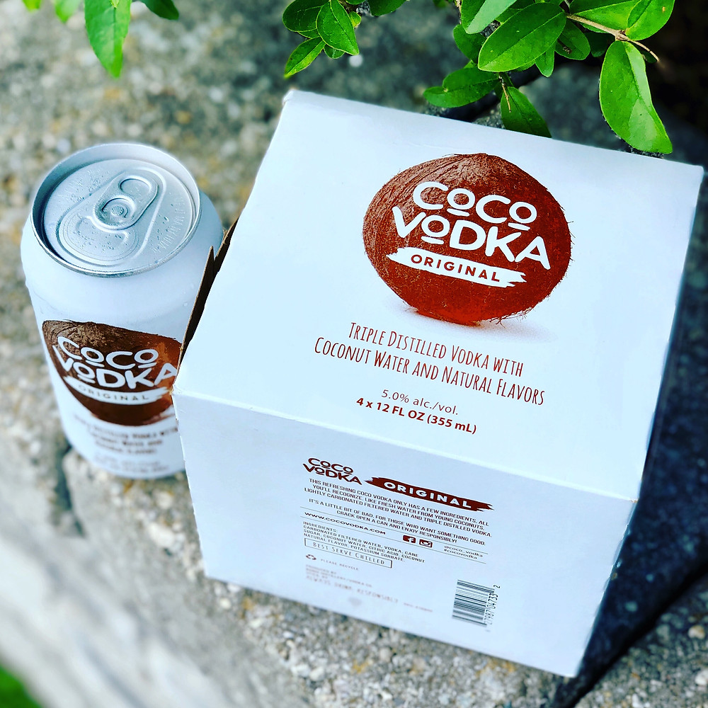 Coco Vodka can and 4 Pack