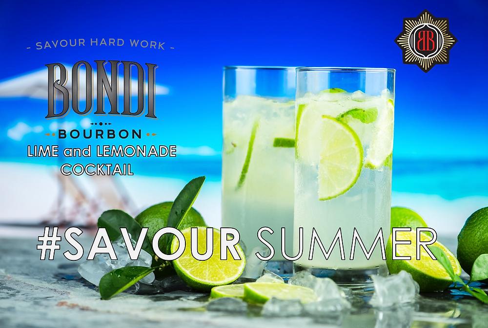 Bondi Bourbon LIME and LEMONADE Cocktail