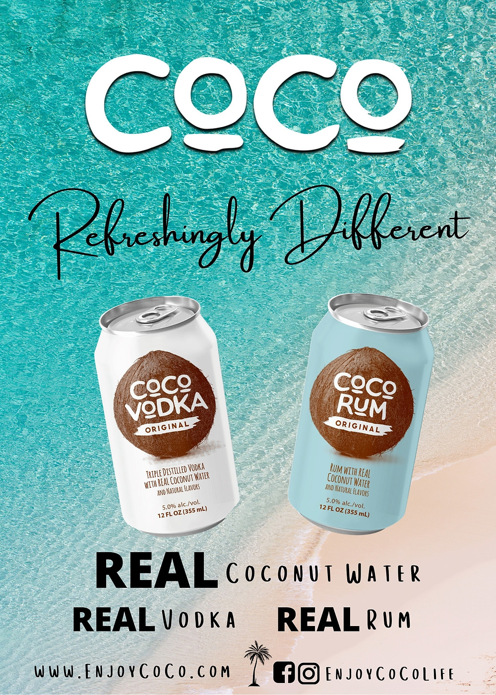 Enjoy Coco vodka and Coco Rum.  Refreshingly Different and Tasty.