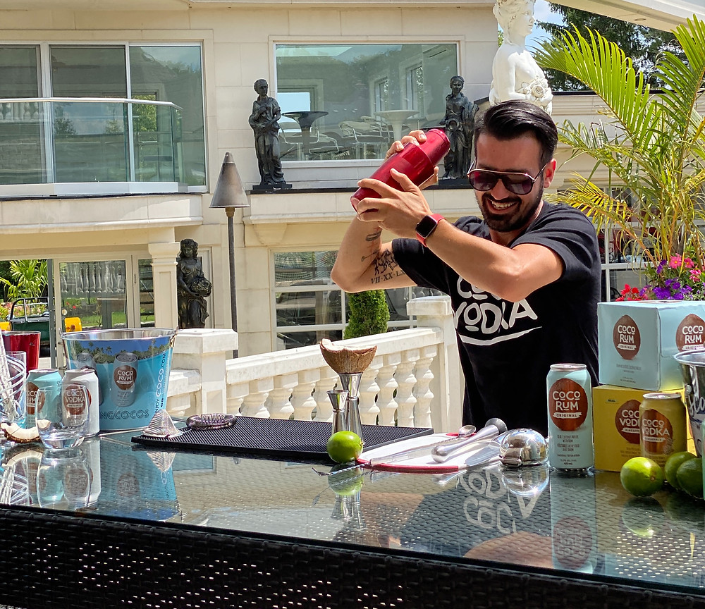 Mark Mixing a CoCo Vodka Cocktail