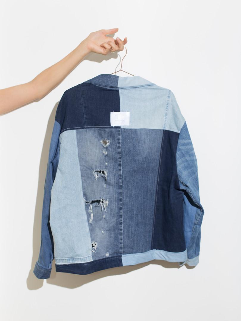 Mixed denim Patchwork Jacket