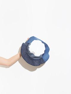 Mixed Denim Summer Hat