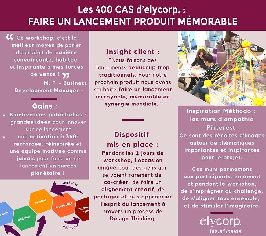 Les 400 cas d'elycorp. : comment faire un lancement produt mémorable