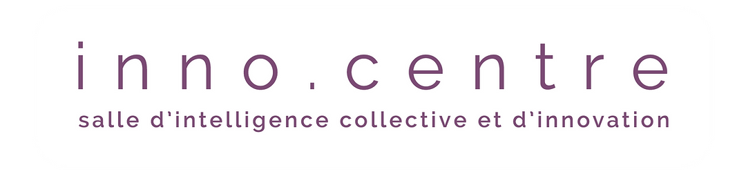 Logo titre principal  - inno.centre location salle intelligence collective innovation paris 14 design thinking reunion formation workshops brainstormings -