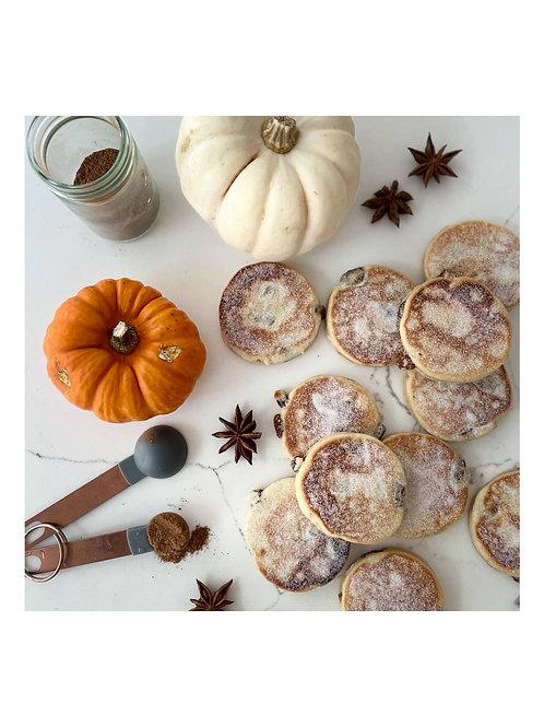 Pumpkin spiced welshcakes